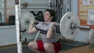 Мезенцев Алексей, 14 лет, вк 77 Жим с груди в седе 35 кг
