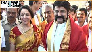 Balakrishna And Heema Malini Visits Tirupati || Gautamiputra Satakarni Release On 12th January