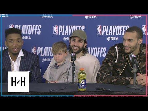 Utah Jazz Postgame Press Conference vs Thunder - Game 2 | April 18, 2018 | 2018 NBA Playoffs