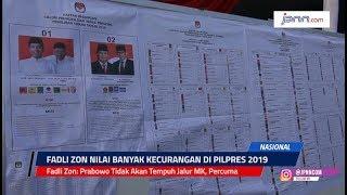 VIDEO: Fadli Zon: Prabowo Tidak Akan Tempuh Jalur MK, Percuma