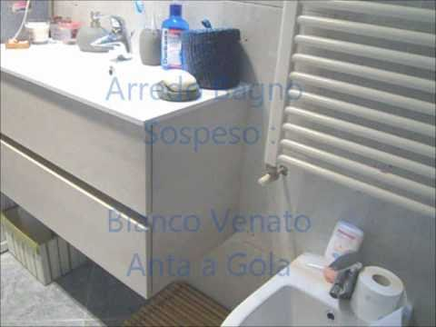 Floating bathroom vanity with gola doors - YouTube