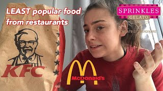 Trying the LEAST POPULAR orders at fast food restaurants