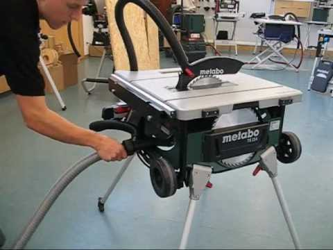 metabo ts 254 table saw demo youtube. Black Bedroom Furniture Sets. Home Design Ideas