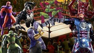 Galactus VS Thanos VS Venon VS Magneto VS Dr Doom   WWE Chamber Elimination 2020