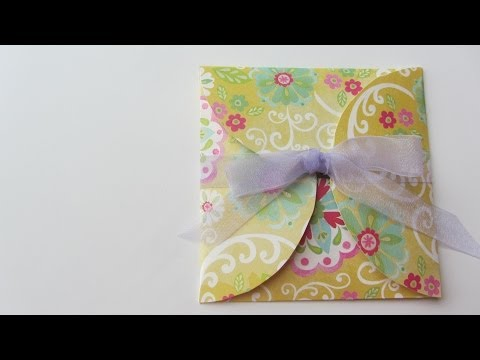 How to Make a Fun CD DVD Envelope With Scrapbook Paper and a CD as Pattern
