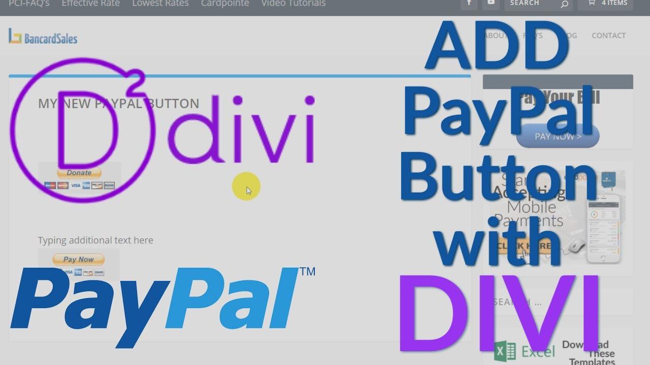 Add Paypal To Wordpress Using Divi Wordpress Theme And A Free