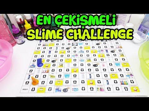En Çekişmeli Slime Challenge - Attığımız Zardan Ne Çıkarsa Slime Yapıyoruz