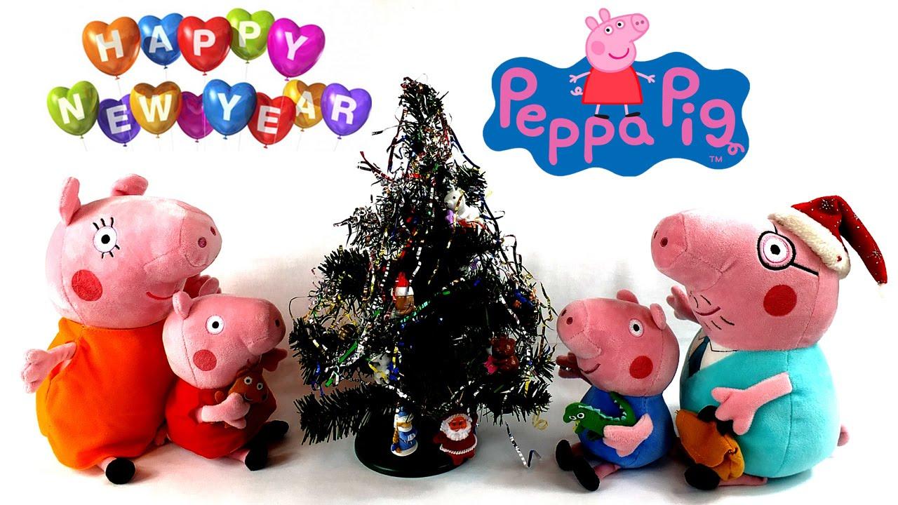 Свинка Пеппа украшает Новогоднюю елочку Мультик для детей ...