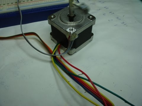 Bipolar Stepper Motor part 4 small motors with code  wiring diagram