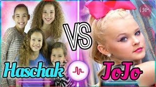 Haschak Sisters VS JoJo Siwa Musical.ly Battle | Best Dance Musically