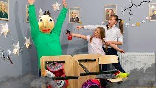 Разгром в школе! Мы разозлили учителя Балди! Техничка заперла нас в школе с Балди