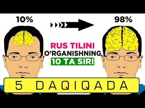 RUS TILINI O'RGANISHNING 10 TA SIRI! +79201951020 +79607177757