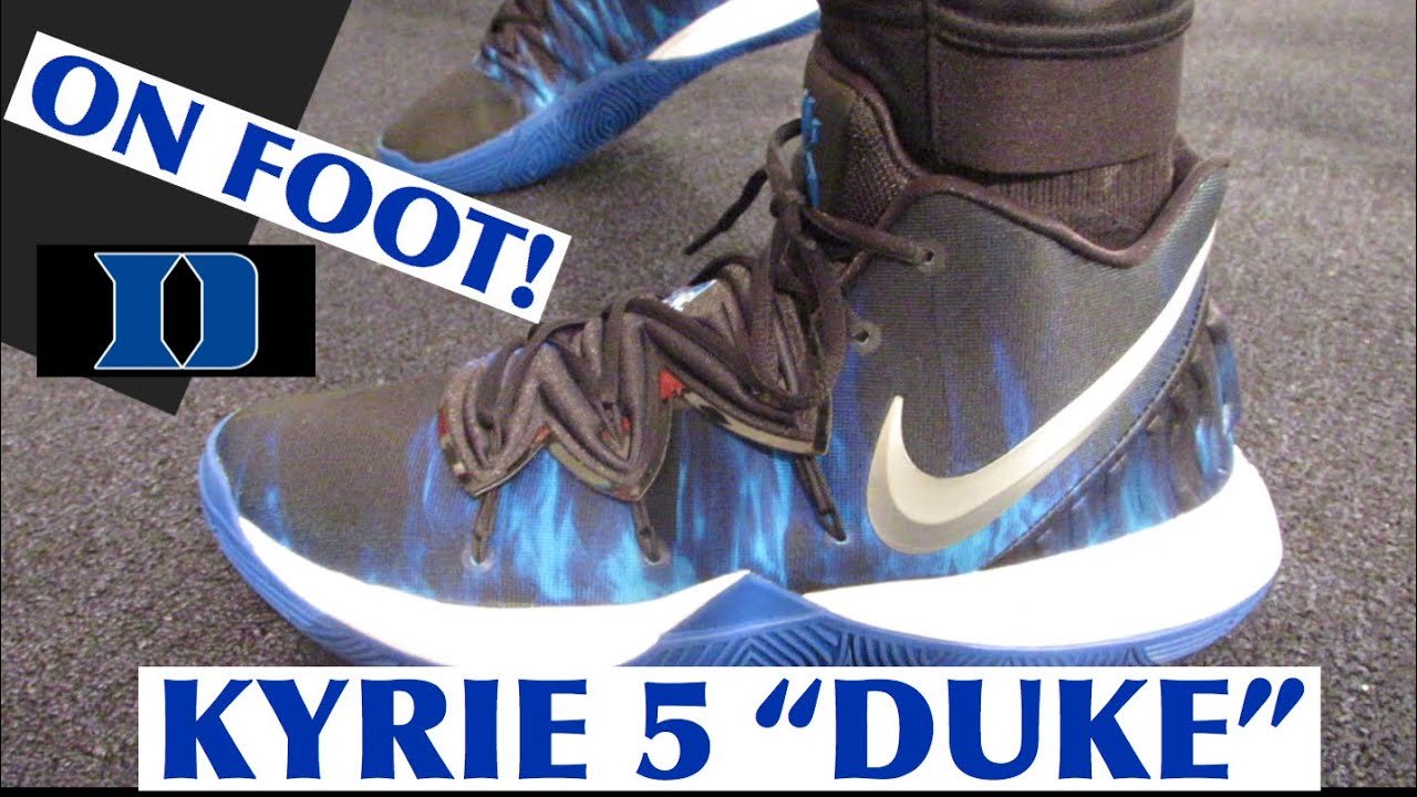 """new style a4d12 f7bf0 NIKE KYRIE 5 """"DUKE"""" ON FOOT!!!"""