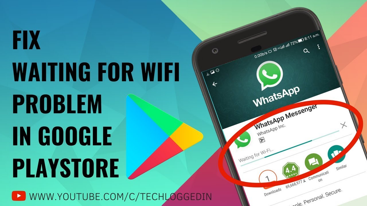 HOW TO FIX WAITING FOR WIFI IN PLAYSTORE | FIX WAITING FOR NETWORK IN  GOOGLE PLAY STORE | PLAYSTORE