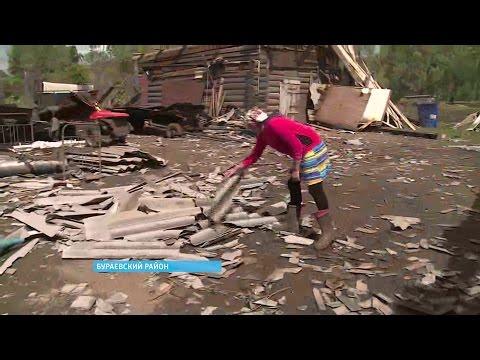 В Бураевском районе ликвидируют последствия сильного урагана