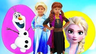 Diana como las Princesas Elsa y Anna