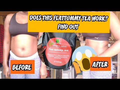 HONEST REVIEW ON 28 DAYS DETOX FLAT TUMMY TEA WITH BEFORE AND AFTER PICTURES