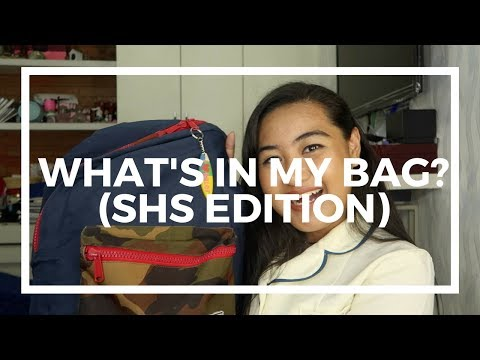What's in my bag? (SHS Edition) | ♕ Mia Dimalanta ♕