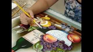 Marcia Gama de Mello- Uvas e Garrafa -acabamento
