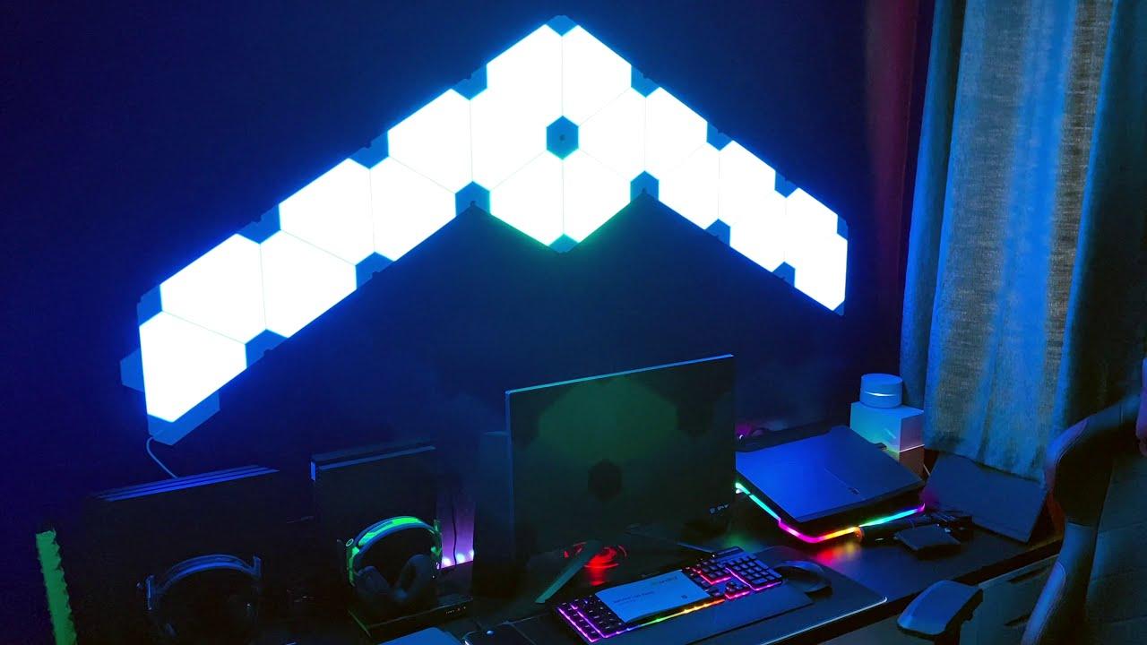 Upgrading my desk setup episode 1: Adding NanoLeaf lights
