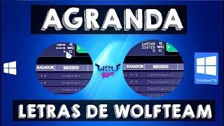 Como Agrandar las Letras Pequeñas de Wolfteam en Windows 10