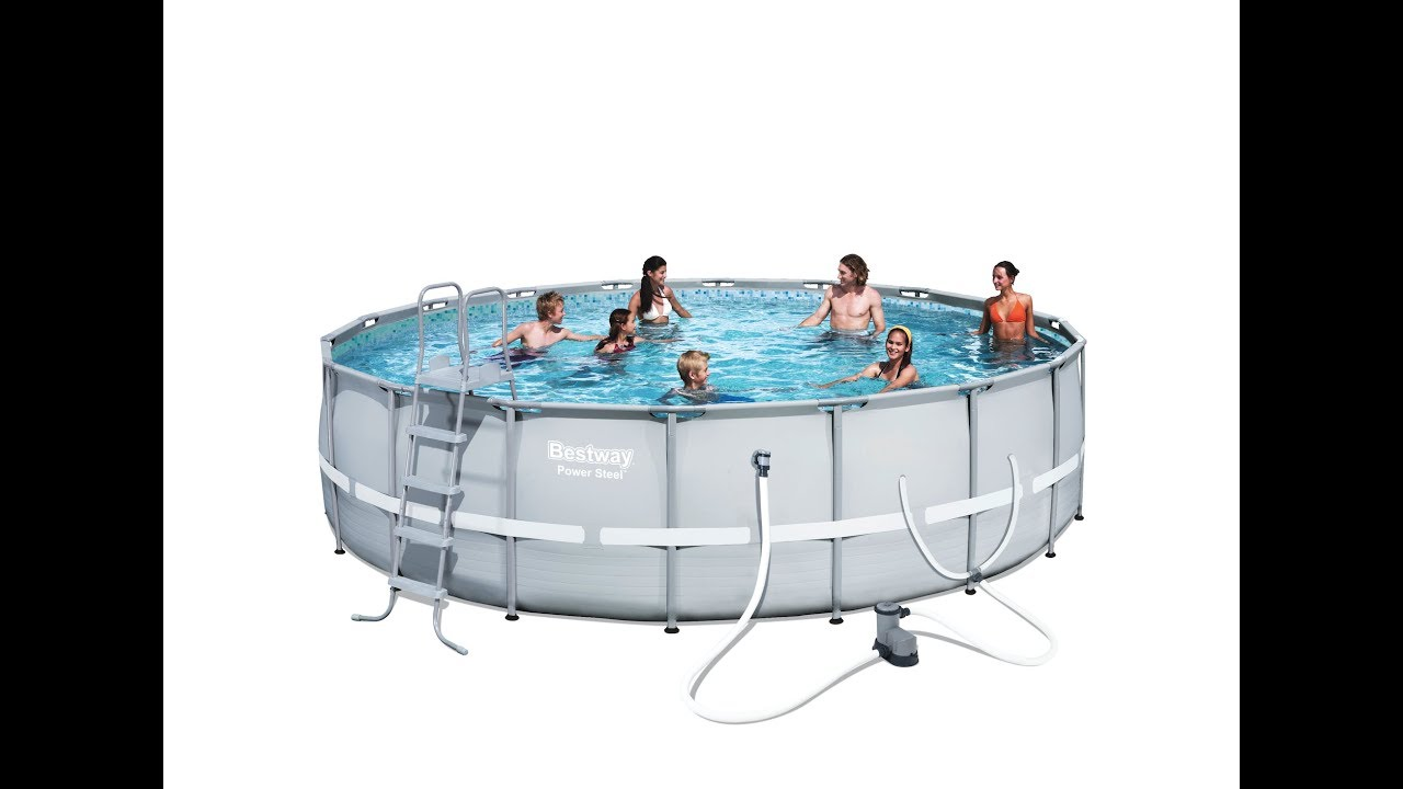 Bestway Power Steel Frame Pool - Round - YouTube