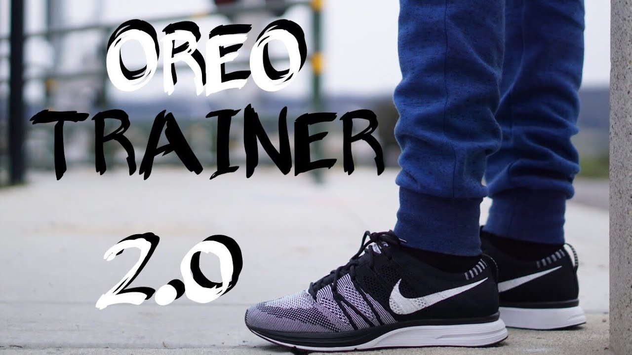7670f5f767ded NIKE FLYKNIT TRAINER OREO 2.0 on feet - YouTube