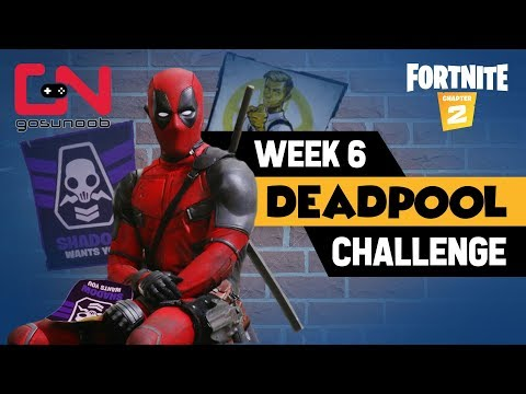 Deface Ghost Or Shadow Posters Location & Find Deadpool Big Black Marker - Fortnite Week 6