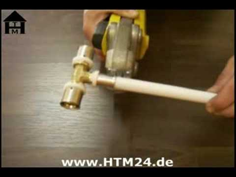 installation mit mehrschichtverbundrohr und pressfittings youtube. Black Bedroom Furniture Sets. Home Design Ideas