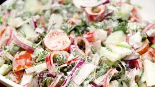 Салат весенний  Простой и вкусный рецепт | Это просто