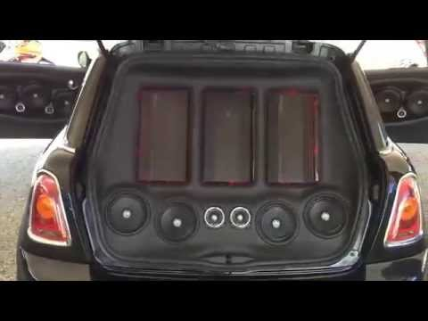 mini cooper with db drive wdx subwoofers youtube. Black Bedroom Furniture Sets. Home Design Ideas