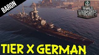 World of Warships Tier X German Cruiser! Hindenburg!