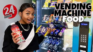 I Only Ate Vending Machine Food for 24 Hours | 24 Hour Challenge | LexiVee03