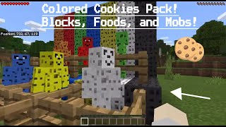 Minecraft except... Colored cookies? (ADDON SHOWCASE) BloxtonMedia ✔ ( BloxtonMedia / TC Blox YTC )