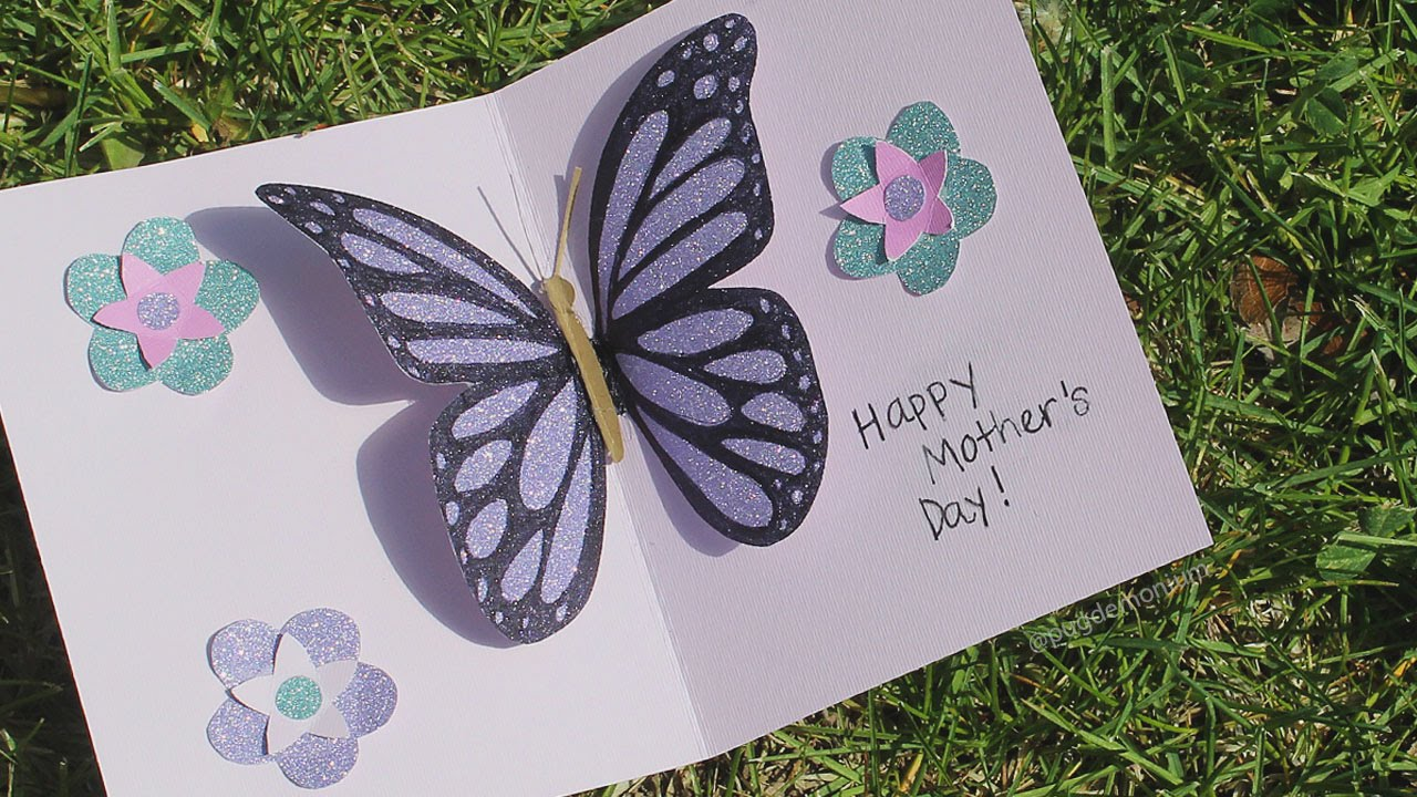 Butterfly Pop Up Card Tutorial YouTube