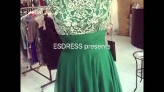 Зеленое длинное вечернее выпускное платье. Emerald long evening prom dress