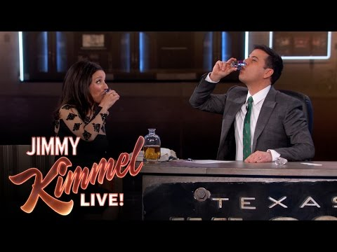Julia Louis-Dreyfus and Jimmy Kimmel Get Buzzed Doing Irish Toasts On St. Patrick's Day