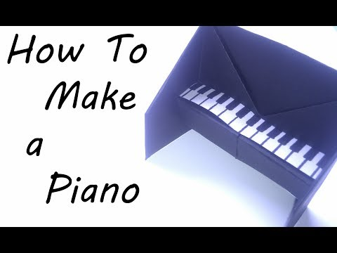 How To Make a Paper Piano (Origami)