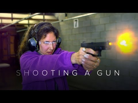 People Shoot a Gun for the First Time Captured in Slow Motion   First Takes   Cut