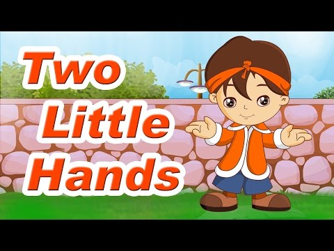 Two Little Hands To Clap Clap Clap Rhyme With Lyrics - English Kids Songs | Learning Videos For Kids