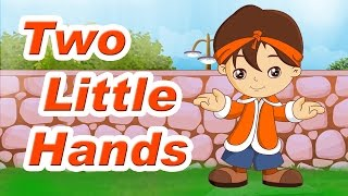 Two Little Hands To Clap Clap Clap Rhyme With Lyrics - English Kids Songs   Learning Videos For Kids
