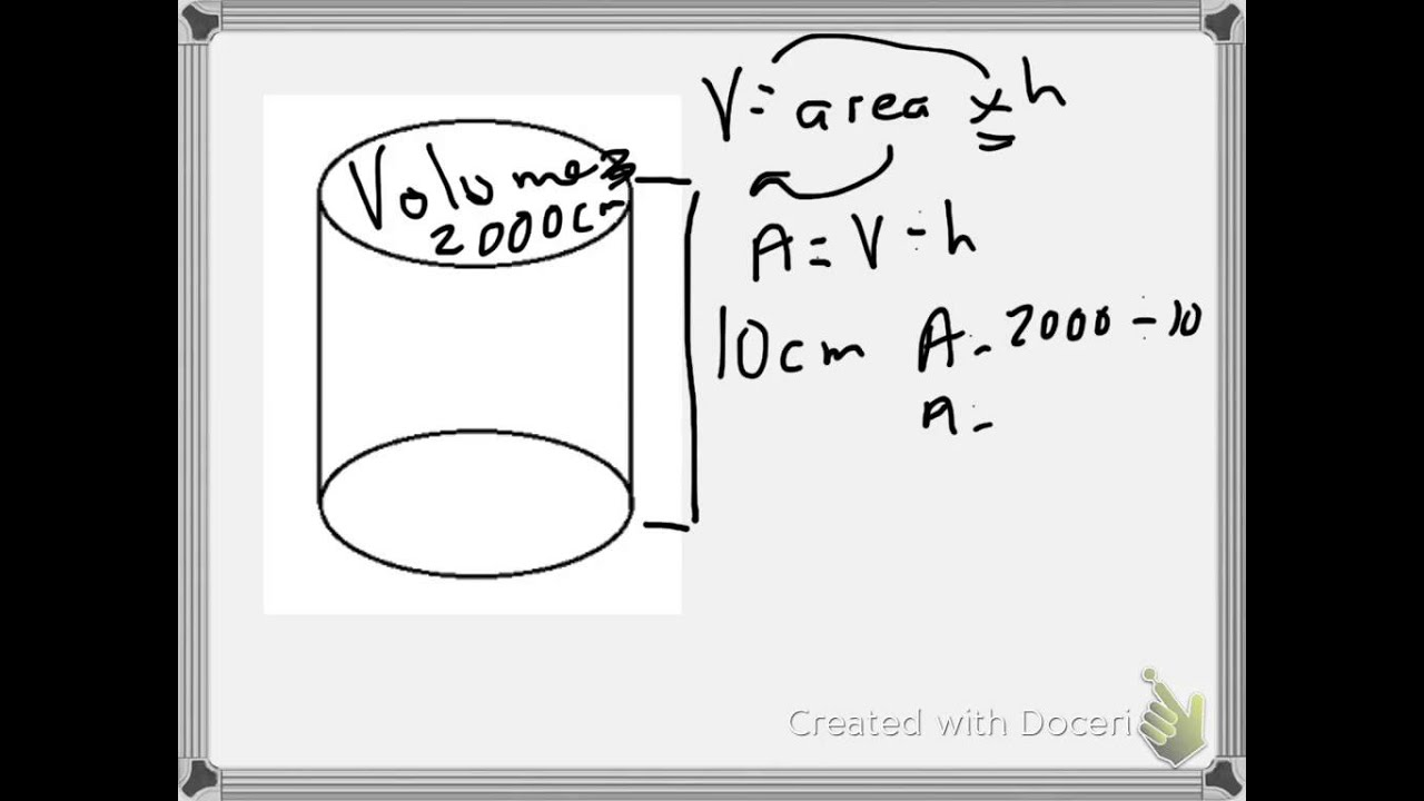 Finding Radius Of A Cylinder