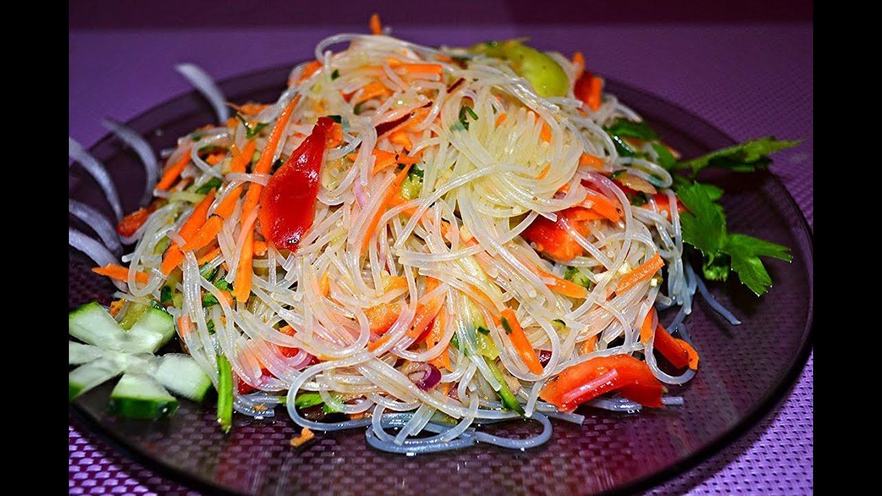 фунчоза рецепт с перцем и морковкой