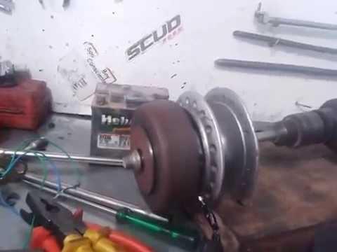 3f39abc49f6 gerador com peças de moto - YouTube
