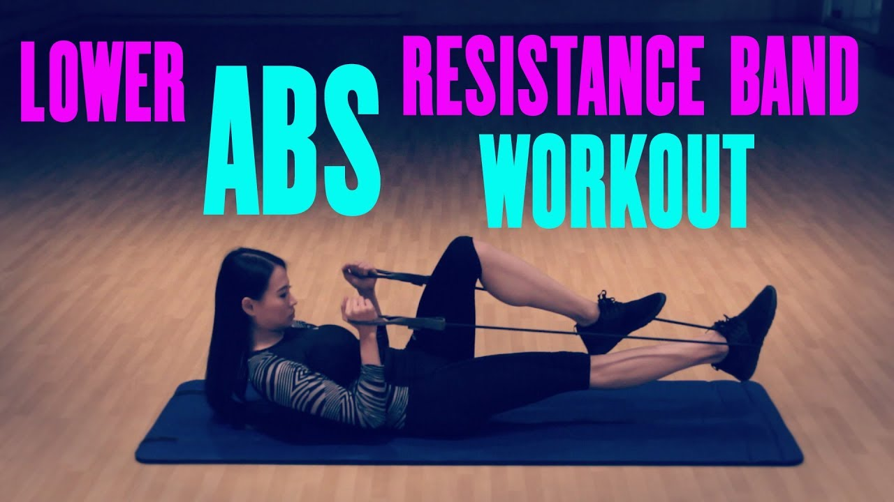 Lower Abs Tube Resistance Band Workout Youtube