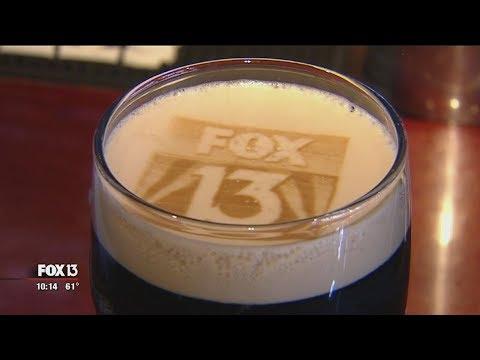 World of Beer prints pictures in foam