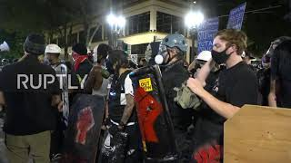 USA: Protesters march through Portland streets on third night without federal agents