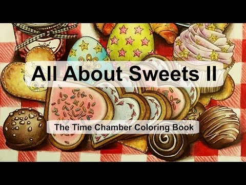 All about sweets II   Adult Coloring Book: The Time Chamber by Daria Song