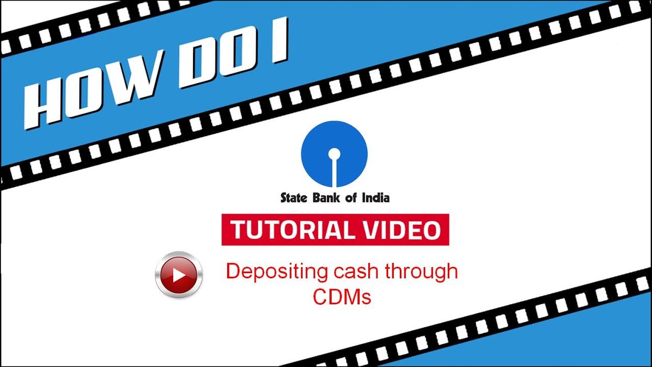 Sbi Cdm Depositing Cash Through Cash Deposit Machine Created As On