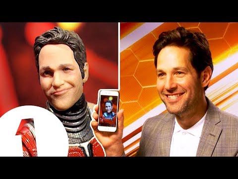 Paul Rudd on his RIDICULOUS AntMan action figure.